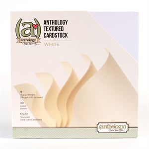Picture of *50% OFF* Anthology Textured Cardstock Pack - White (30 sheets)  *SALE* WHILE SUPPLIES LAST